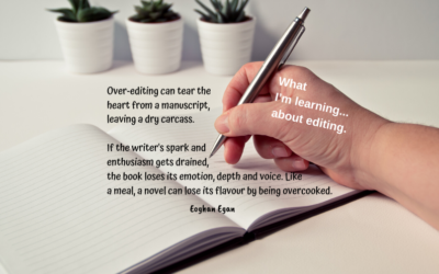 What I'm learning… about editing.