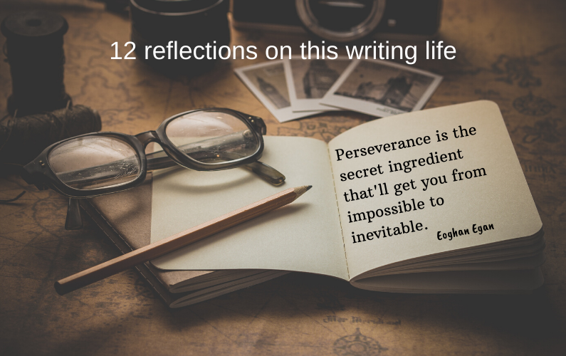 12 reflections on this writing life.